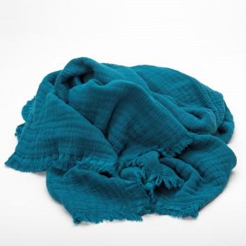 Plaid Crépuscule Vanly Harmony, 100% coton avec une finition lavé.